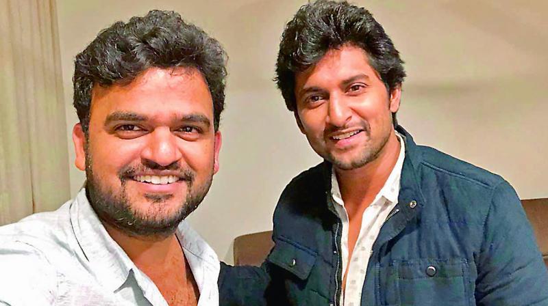 Sailesh Kolanu with actor Nani