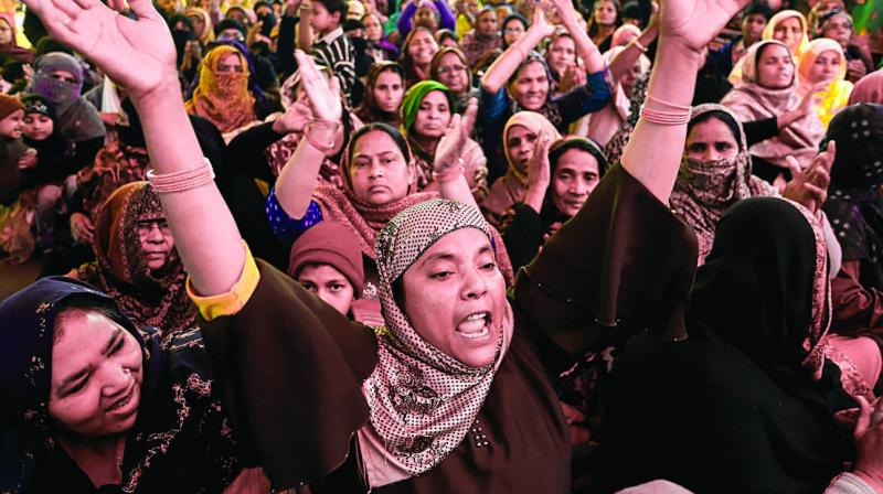 Outrage against the unrelenting repression triggered the women of Shaheen Bagh to start a first-of-its-kind indefinite dharna to protest against police brutality and CAA-NRC. (Photo: PTI)