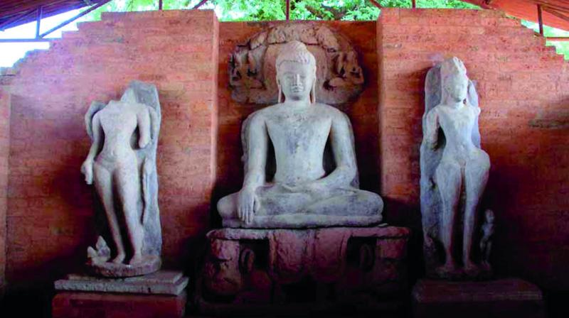 A Buddhist site in Sirpur, Chhattisgarh