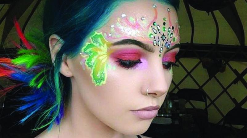 File picture of mermaid makeup.
