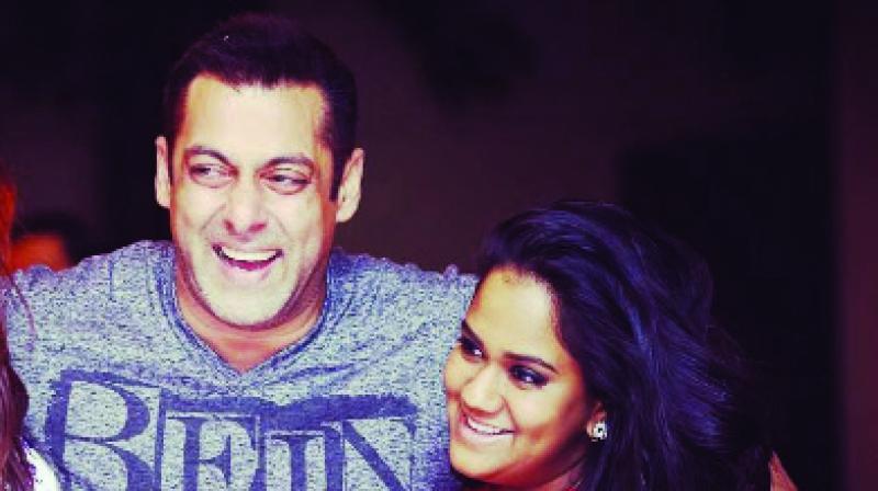 Salman Khan and Arpita Khan Sharma