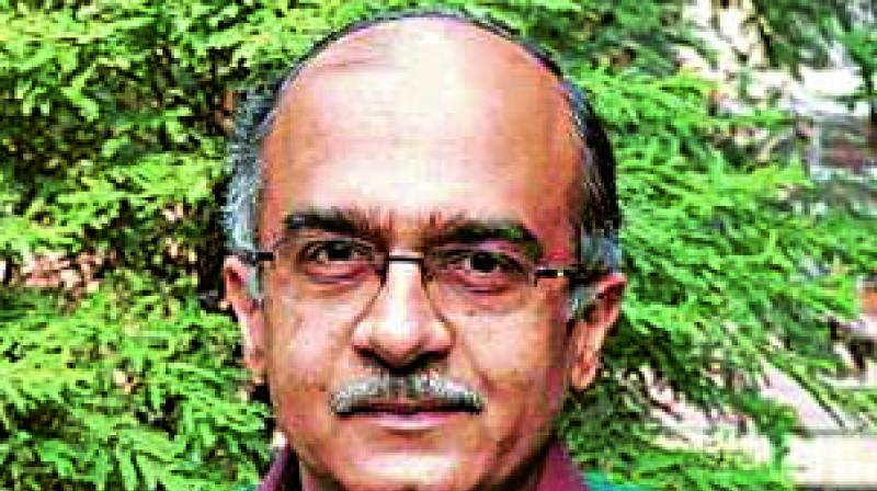 Senior advocate Prashant Bhushan.