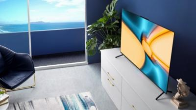 This Smart TV is basically a 55-inch smartphone, complete with its