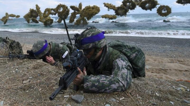 Seoul and Washington are conducting joint military drills, an annual exercise seen by the North as a preparation for invasion (Photo: AFP)