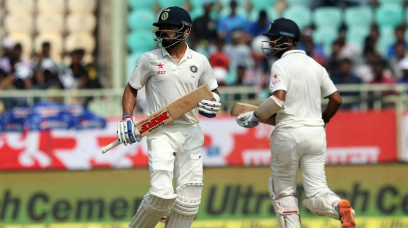 India will bank on Cheteshwar Pujara and Virat Kohli to score big and bat long as the team looks to notch up a big total. (Photo: BCCI)