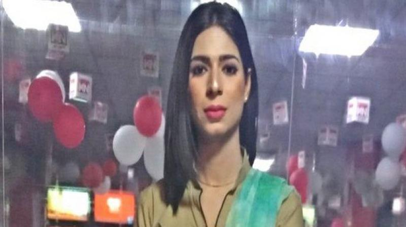 The news of her first appearance on local channel Kohenoor TV on Saturday went viral on social media and was just days after she became the first transgender model on the catwalk at the annual Pakistan Fashion Design Council fashion show. (Photo: ANI)