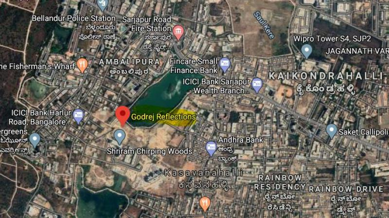 The National Green Tribunal has struck down environmental clearance to a major luxury project near the Kaikondrahalli lake in Bengaluru. (Google Maps).