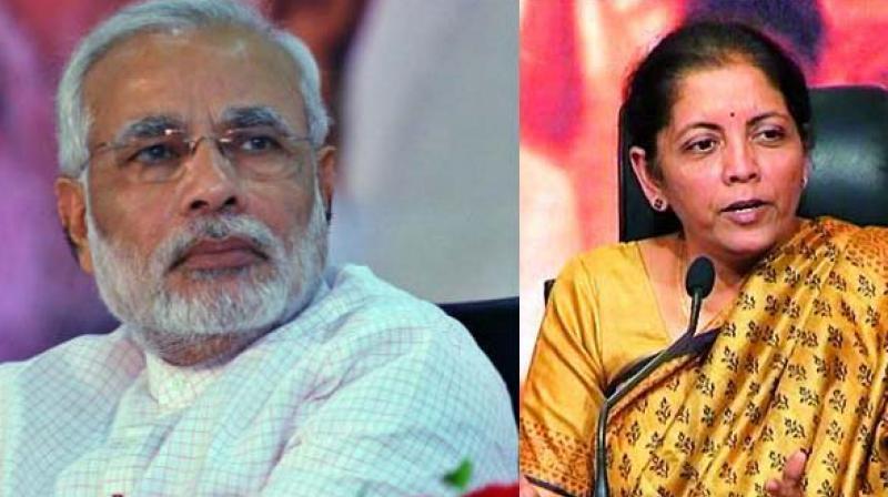 Prime Minister Narendra Modi and defence minister Nirmala Sitharaman