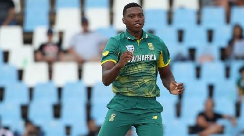 Lungi Ngidi is a part of the South African side that is touring India and will play for the Africans in the Test series. (Photo: AFP)