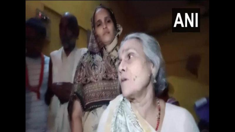 'We are very happy with the arrest of the accused persons, they should all be hanged. I am satisfied by the government's action,' Kusum Tiwari said. (Photo: ANI)