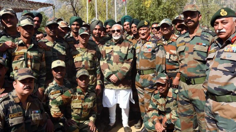 Northern Command chief Lt General Devraj Anbu and Chinar Corps Commander Lt Gen J S Sandhu are also in Gurez accompanying the Prime Minister, an Army official said. (Photo: ANI)