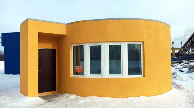 The first house printed using mobile 3D printing technology has been built in Stupino town, Moscow region.