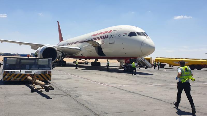 First Air India flight from Cairo to Delhi under Vande Bharat Mission. Twitter image