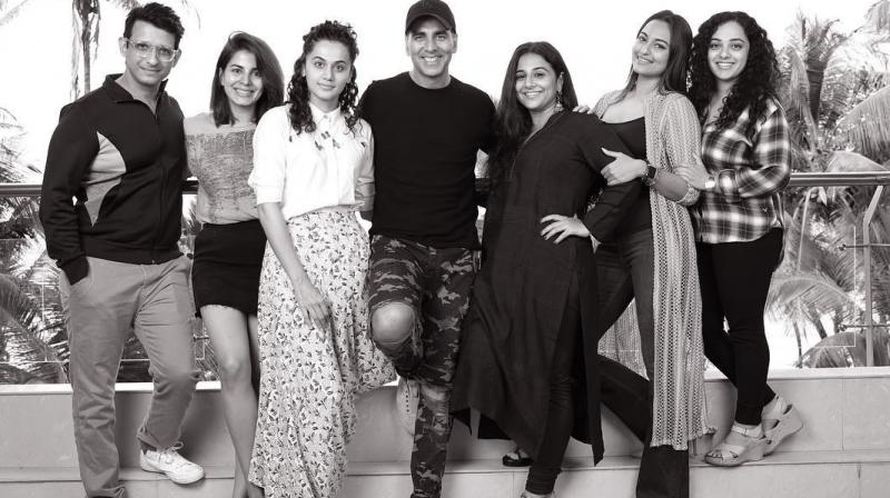 The cast of Mission Mangal.