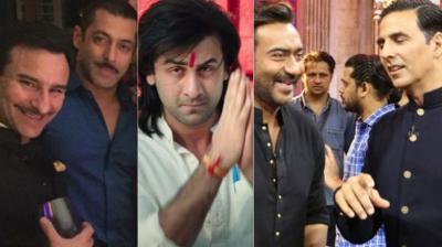 Saif Ali Khan, Salman Khan, Ranbir Kapoor in 'Sanju', Ajay Devgn, Akshay Kumar.