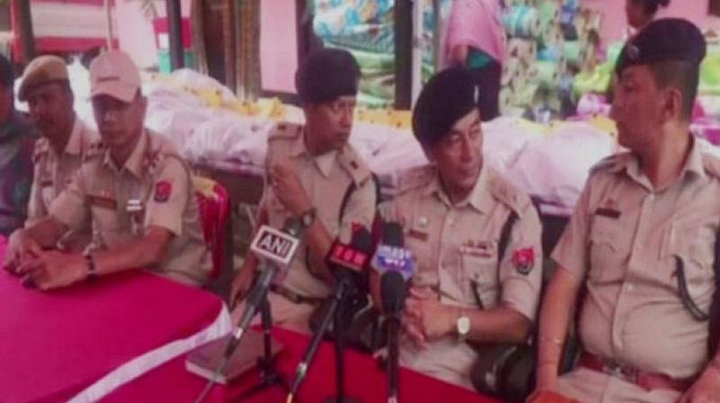 'The combined team of Thoubal District Police was assisted by local youth clubs and women welfare association in the seizure of the contraband item,' SP Dr S Ibomcha Singh said in a press conference. (Photo: ANI)