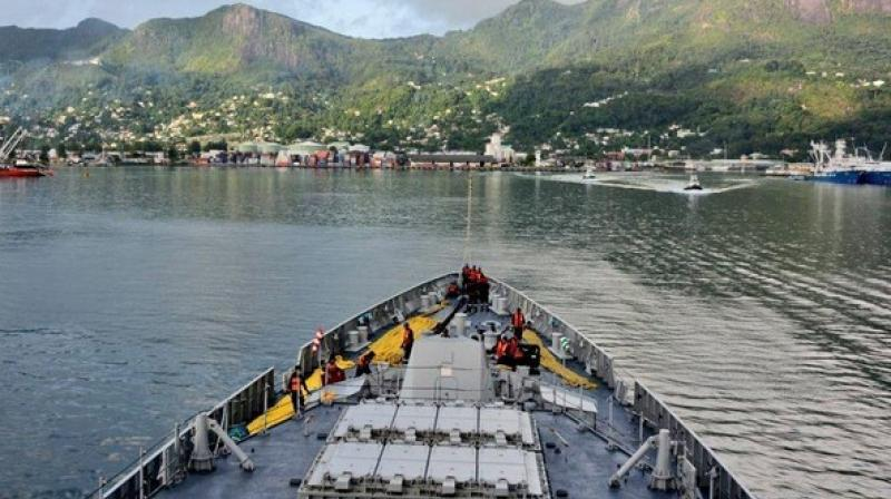 The ships were kept 'Open for Visitors,' amongst whom were Deck Cadets from the Seychelles Maritime Academy. (Photo: ANI)