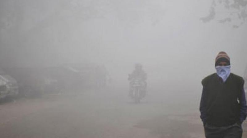 The overall air quality index was recorded at 268 which falls in 'poor' category, according to data by the Central Pollution Control Board. (Representational image | AFP)