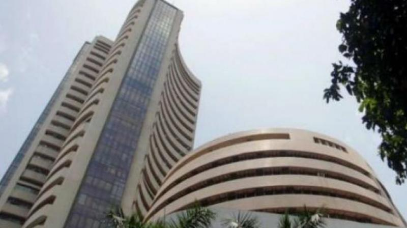 The NSE Nifty too gained 47.70 points, or 0.41 per cent, to 11,724.50 after touching a low of 11,654.80.
