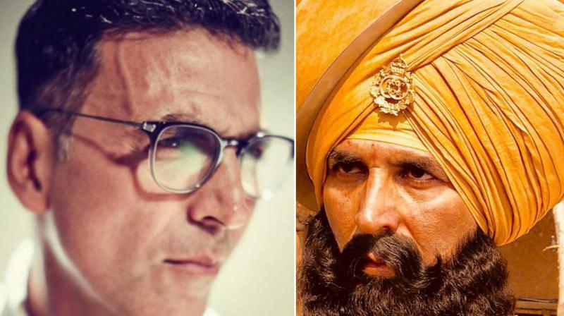 Akshay Kumar's fierce look in 'Kesari'.
