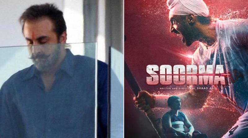 Ranbir Kapoor on the sets of Dutt biopic and Diljit Dosanjh in 'Soorma'.