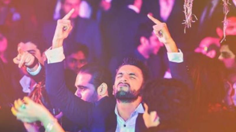 Ranveer Singh at the party.