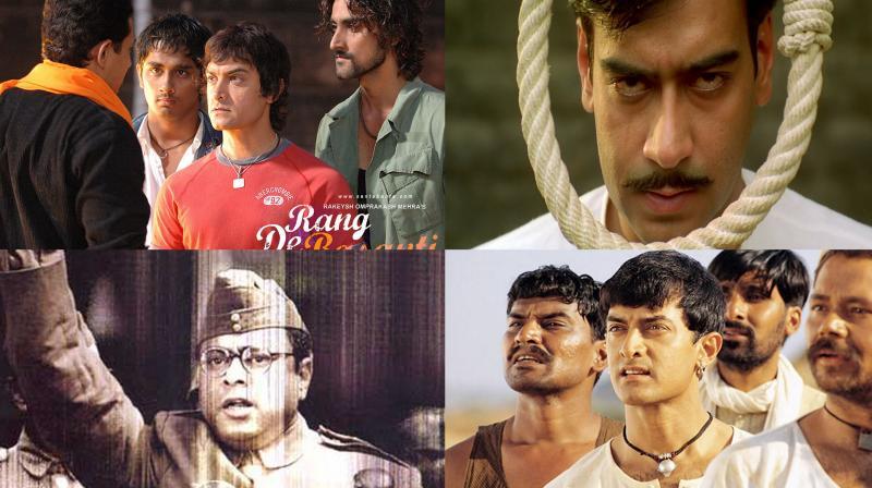 Patriotic Bollywood films.
