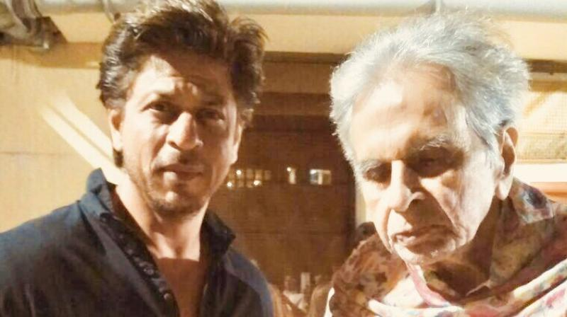 Shah Rukh Khan with Dilip Kumar.