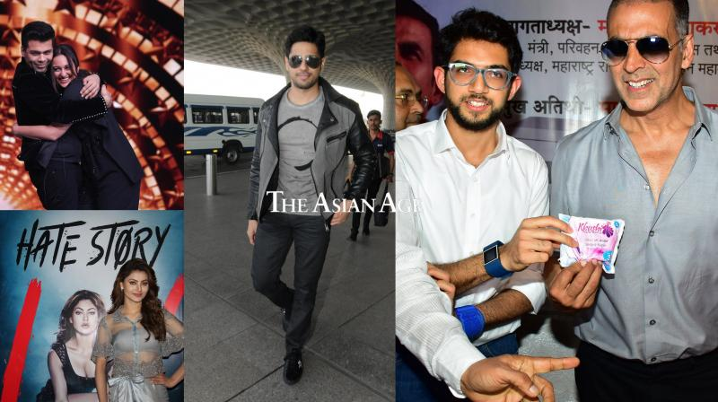 Bollywood stars Akshay Kumar, Sonakshi Sinha, Sidharth Malhotra, Urvashi Rautela and others were clicked in the city. See all the exclusive pictures here. (Photos: Viral Bhayani)