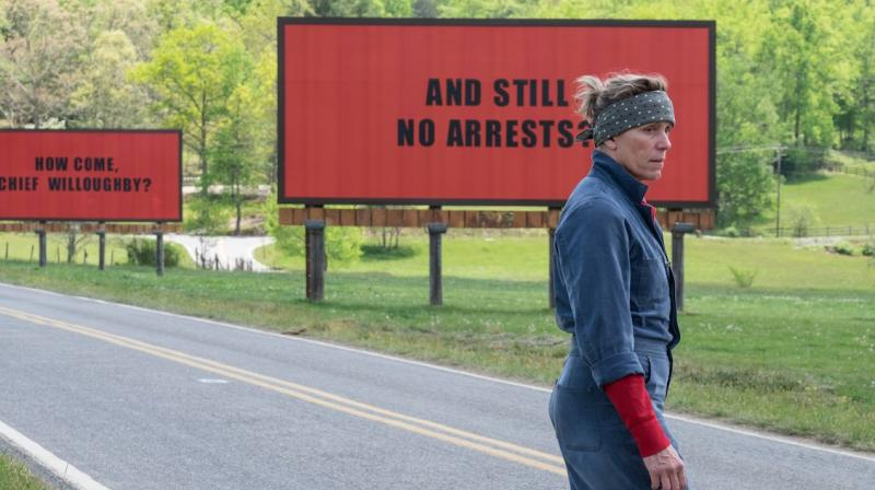'Three Billboards Outside Ebbing, Missouri' received seven nominations at the 90th Academy Awards.