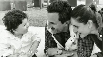 Kareena and Saif with cutie pie Taimur.