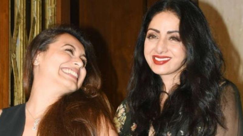 Rani Mukerji with late actress Sridevi. (File photo)