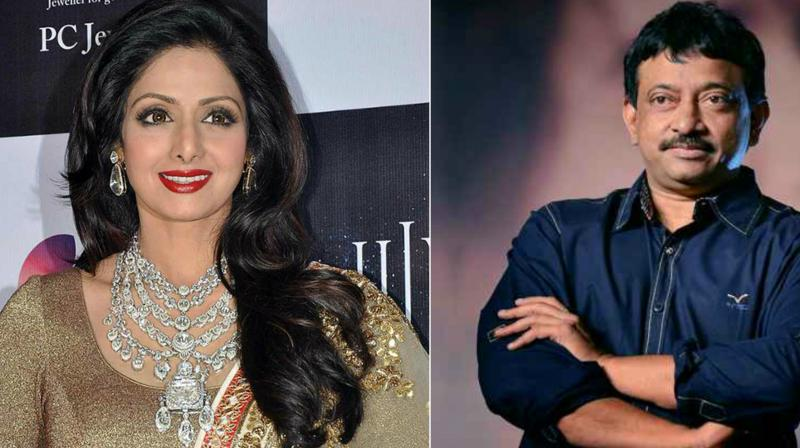 RGV will officially announce the biopic on Sridevi once the story is locked.
