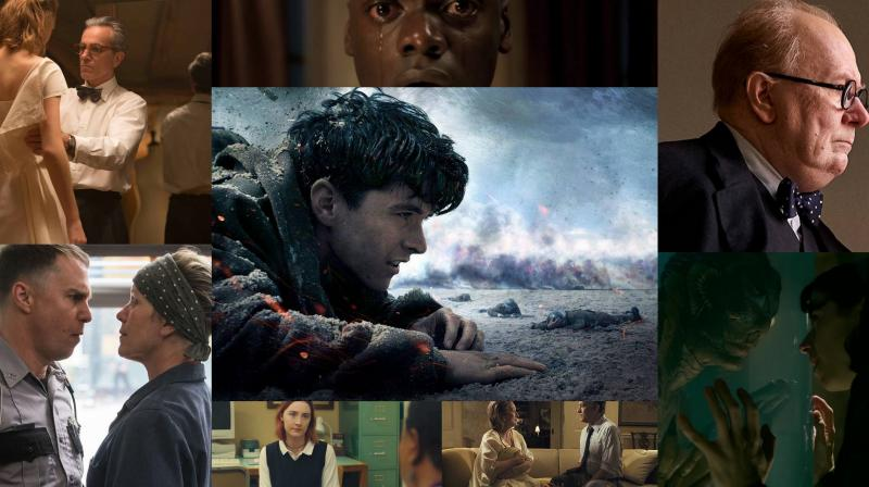 Best picture nominees at the Oscars 2018.
