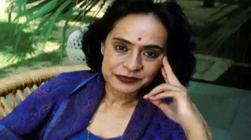 Author Gita Mehta, who is also the sister of Odisha Chief Minister Naveen Patnaik.(Photo: Twitter/@kanak_news)