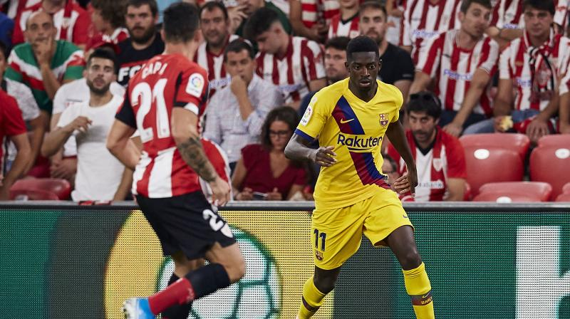 If Ousmane Dembele is out for that long, he could miss five matches in La Liga as well as France's Euro 2020 qualifiers against Albania on September 7 and Andorra on September 20. He suffered a similar problem in May at the end of an injury-ravaged first season in Barcelona. (Photo:AP)