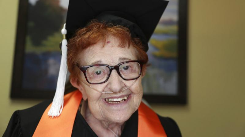 Fein, now 84, went back to school and will accomplish a long-held goal this week when she graduates from the University of Texas at Dallas with a bachelor's degree. (Photo: AP)