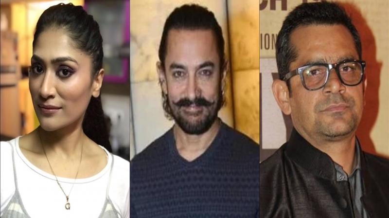 Geetika Tyagi, Aamir Khan and Subhash Kapoor. (Photo: Instagram)