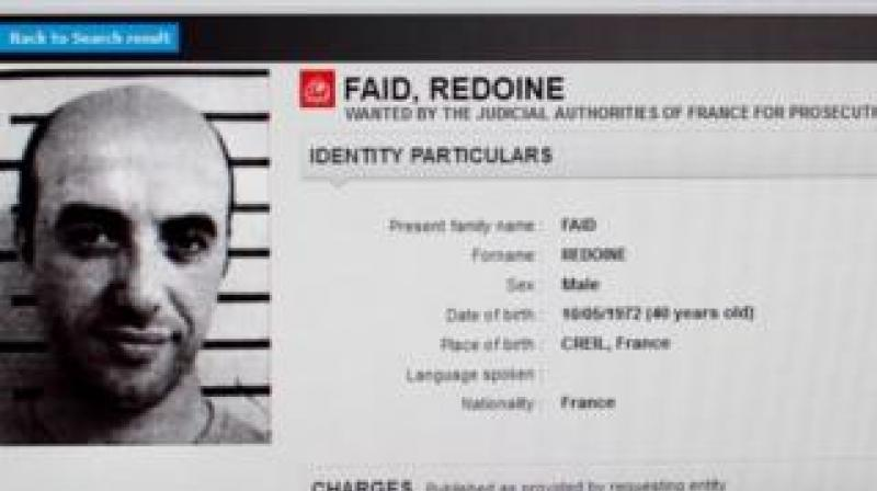 It is the second time Faid has pulled off a spectacular jailbreak -- in 2013, he blasted his way out of a prison in northern France using dynamite. (Photo: @hallygan/Twitter)