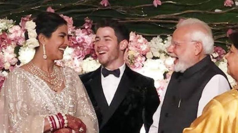 PM Narendra Modi at Priyanka and Nick's wedding reception in Delhi. (Courtesy: Instagram)