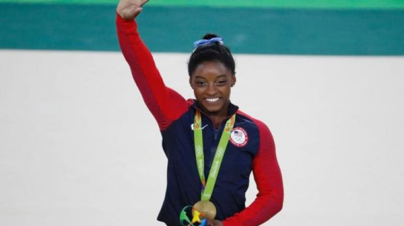 Rio Olympics gold medallist Simone Biles also praised Dipa Karmakar for inspiring other kids in India to take up the sport. (Photo: AFP)