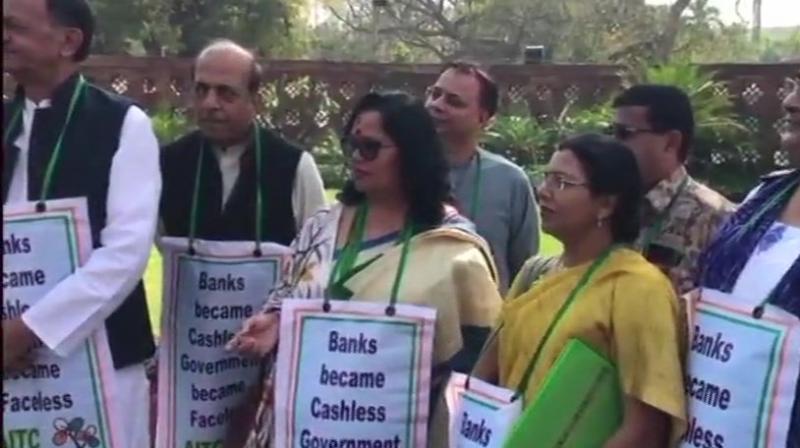 Trinamool Congress members too were seeking to raise the same matter Nirav Modi is the alleged kingpin of the Rs 12,700-crore fraud at Punjab National Bank. (Photo: ANI   Twitter)