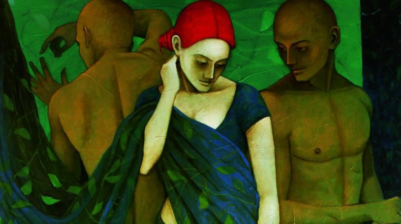 Artist Asit Patnaik has been working on the 'relations' series for quite some time now.