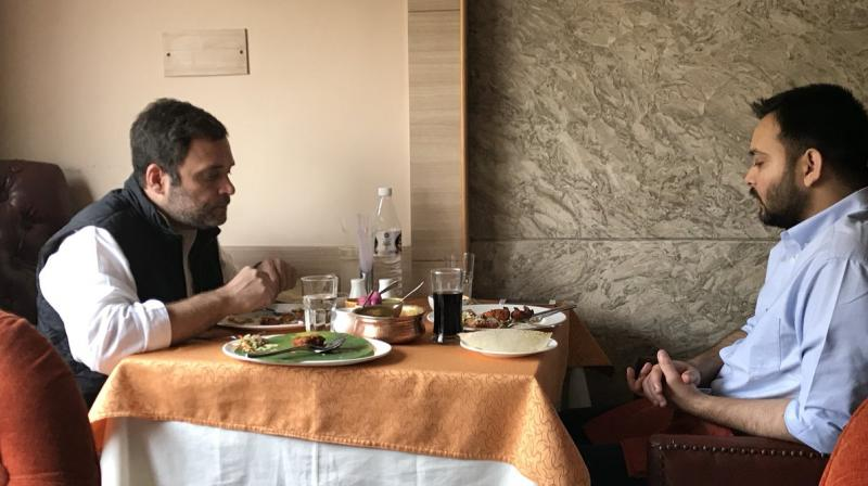 Flutter in political circle: Rahul, Tejashwi meet over luncheon