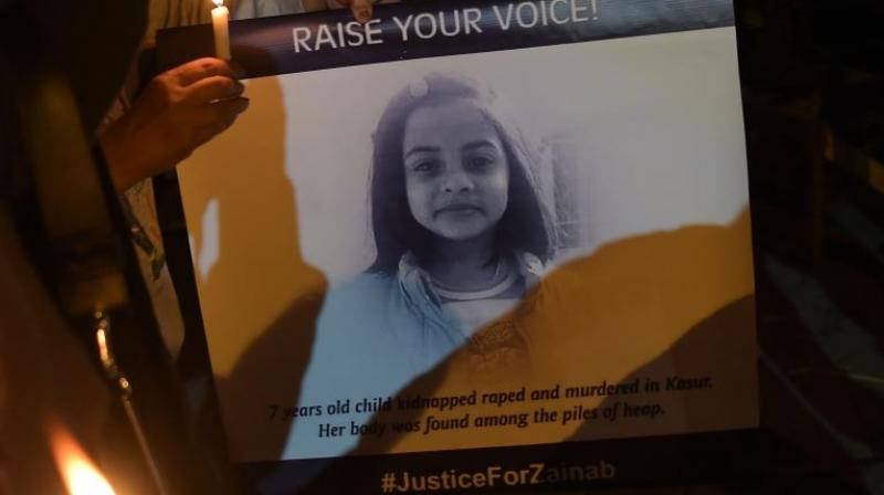 The girl's father Muhammad Amin expressed satisfaction over the verdict, saying: 'We are satisfied on the verdict but we wanted him to be hanged publicly.' (Photo: AFP)