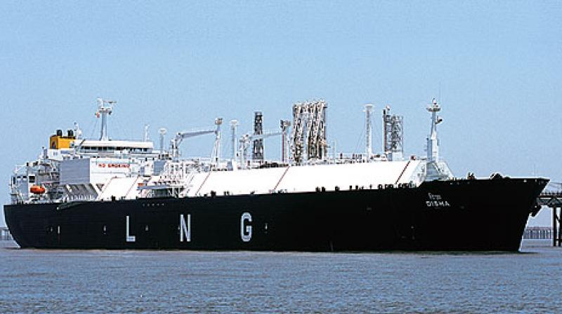 LNG carrier 'LNG Kano', carrying a cargo from Russian supplier Gazprom, docked at Petronet LNG's import facility.