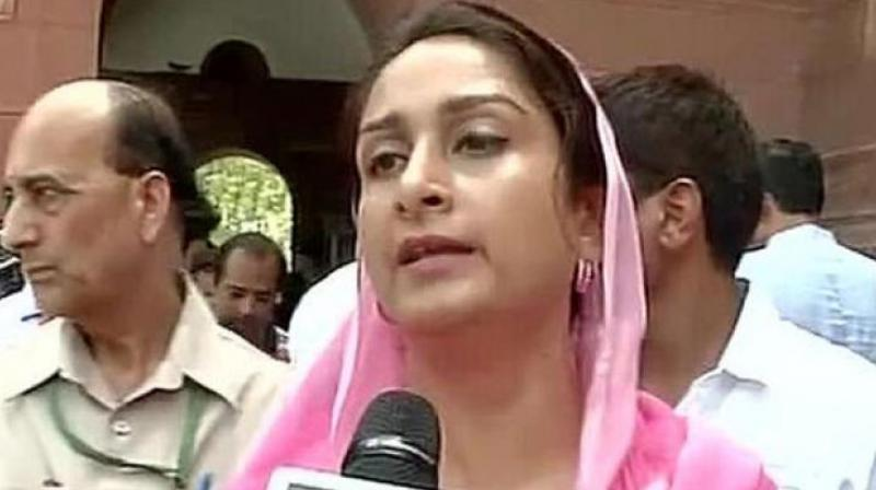 Union Food Processing Minister Harsimrat Kaur Badal.