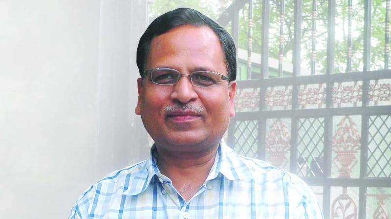 Public Works Department (PWD) minister Satyendra Jain
