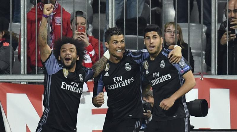 Four-time world player of the year Ronaldo netted his 100th European goal against Bayern Munich. (Photo: AP)