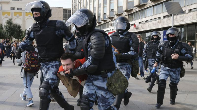 A file picture of the police personnels from Moscow (Image Source: AP)